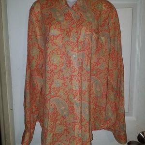 Lauren Ralph Lauren Top Blouse Cotton Long Sleeve